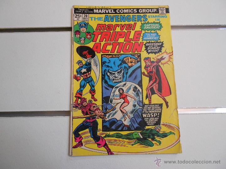 MARVEL TRIPLE ACTION, THE AVENGERS Nº 20. MARVEL COMICS. ORIGINAL AMERICANO (Tebeos y Comics - Comics Lengua Extranjera - Comics USA)