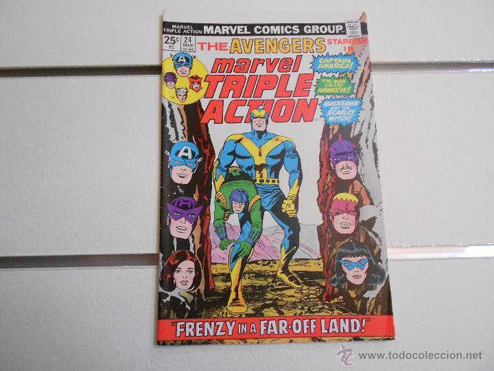 MARVEL TRIPLE ACTION, THE AVENGERS Nº 24. MARVEL COMICS. ORIGINAL AMERICANO (Tebeos y Comics - Comics Lengua Extranjera - Comics USA)