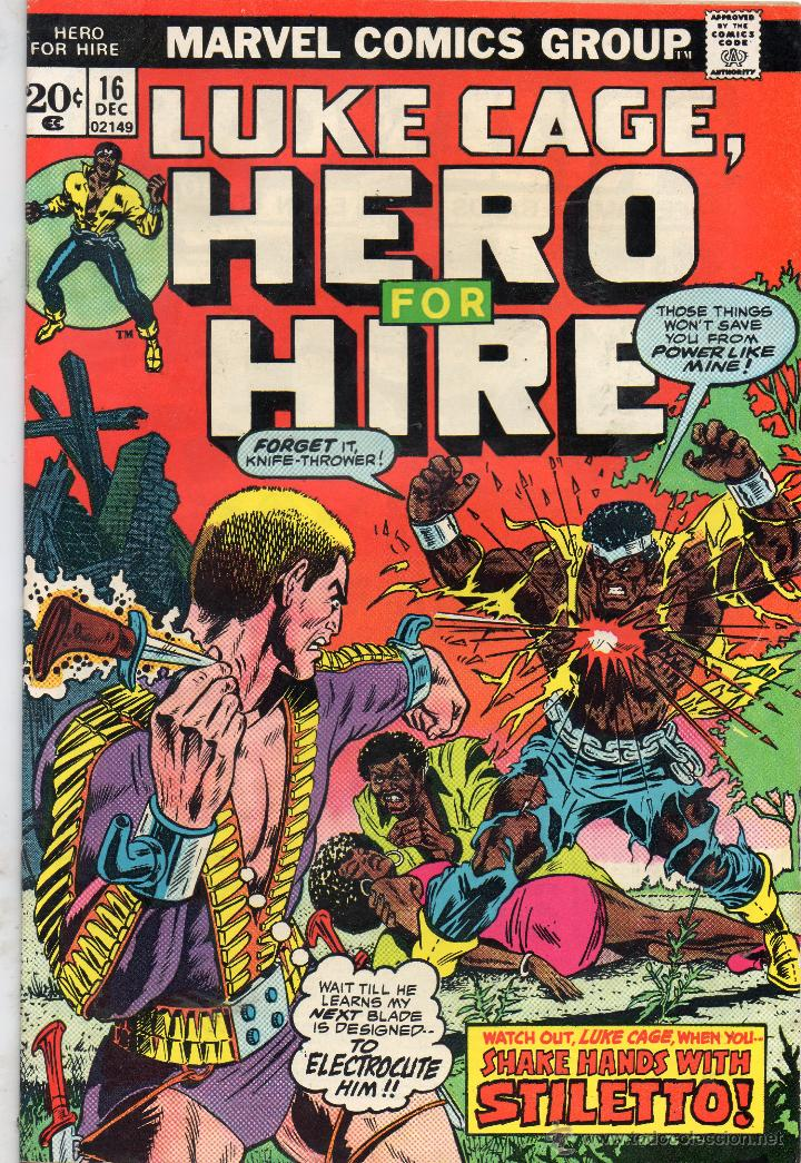 COMIC MARVEL USA 1973 LUKE CAGE HERO FOR HIRE Nº 16 MUY BUEN ESTADO (Tebeos y Comics - Comics Lengua Extranjera - Comics USA)