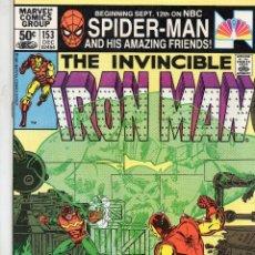Cómics: COMIC MARVEL USA 1981 IRON MAN Nº 153 EXCELENTE ESTADO. Lote 53199907