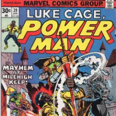 Cómics: COMIC MARVEL USA 1977 LUKE CAGE POWERMAN Nº 39 EXCELENTE ESTADO. Lote 53200162