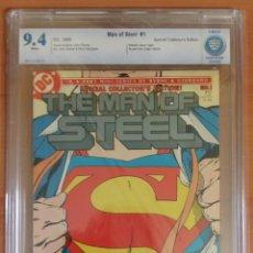 Cómics: SUPERMAN MAN OF STEEL #1 EL HOMBRE DE ACERO CBCS 9.4 BYRNE 1986 CGC. Lote 48419759