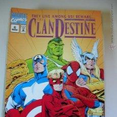 Fumetti: CLANDESTINE #6. MARVEL COMICS. X-MEN. ORIGINAL EN INGLÉS. NUEVO.. Lote 54936829