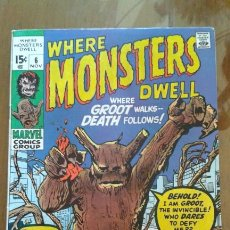 Cómics: WHERE MONSTERS DWELL 6, MARVEL COMICS. Lote 56985229
