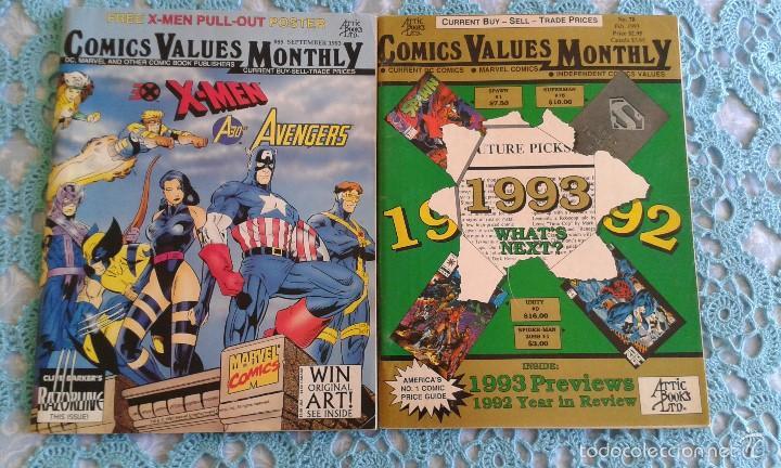 PACK DOS NUMEROS COMICS VALUES MONTLY, 78 Y 85, usado segunda mano