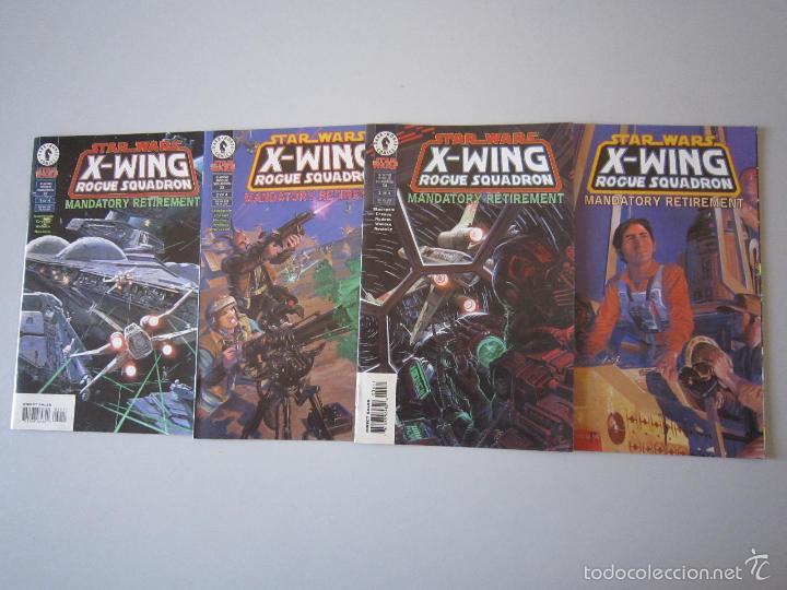 STAR WARS: X - WING ROUGUE SQUADRON: MANDATORY RETIREMENT # 1 AL # 4. DARK HORSE (U.S.A) (Tebeos y Comics - Comics Lengua Extranjera - Comics USA)