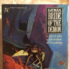 Cómics: BATMAN: BRIDE OF THE DEMON TAPA DURA / DC / INGLÉS. Lote 63095796