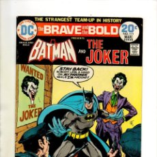 Cómics: BRAVE AND BOLD 111 BATMAN & JOKER - DC 1974 - FN PLUS. Lote 67415953