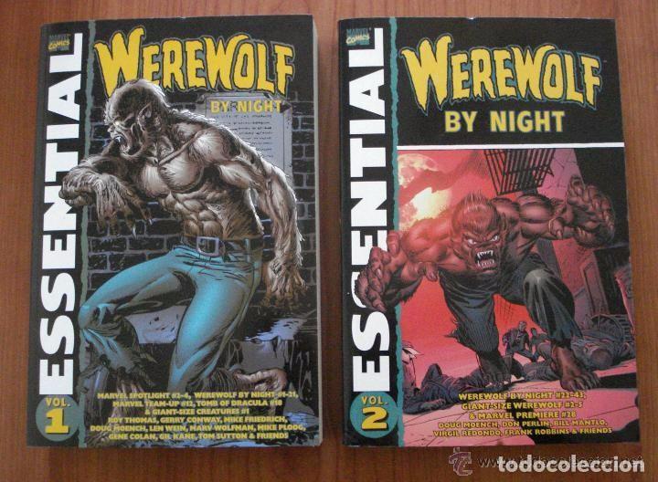 US MARVEL: ESSENTIAL WEREWOLF BY NIGHT VOLUMENES 1 Y 2. COLECCION COMPLETA. 2 TOMOS. EL HOMBRE LOBO. (Tebeos y Comics - Comics Lengua Extranjera - Comics USA)