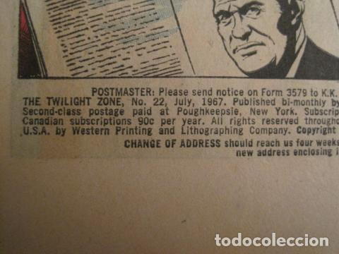 Cómics: THE TWILIGHT ZONE - NO. 22 - JULIO 1967 - COMIC GOLD KEY -VER FOTOS - (V-9264) - Foto 3 - 77802965