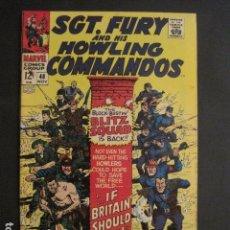 Cómics: SGT. FURY AND HIS HOWLINGS COMMANDOS - NO. 48 - NOVIEMBRE 1967 - MARVEL COMICS -VER FOTOS - (V-9281). Lote 77814901
