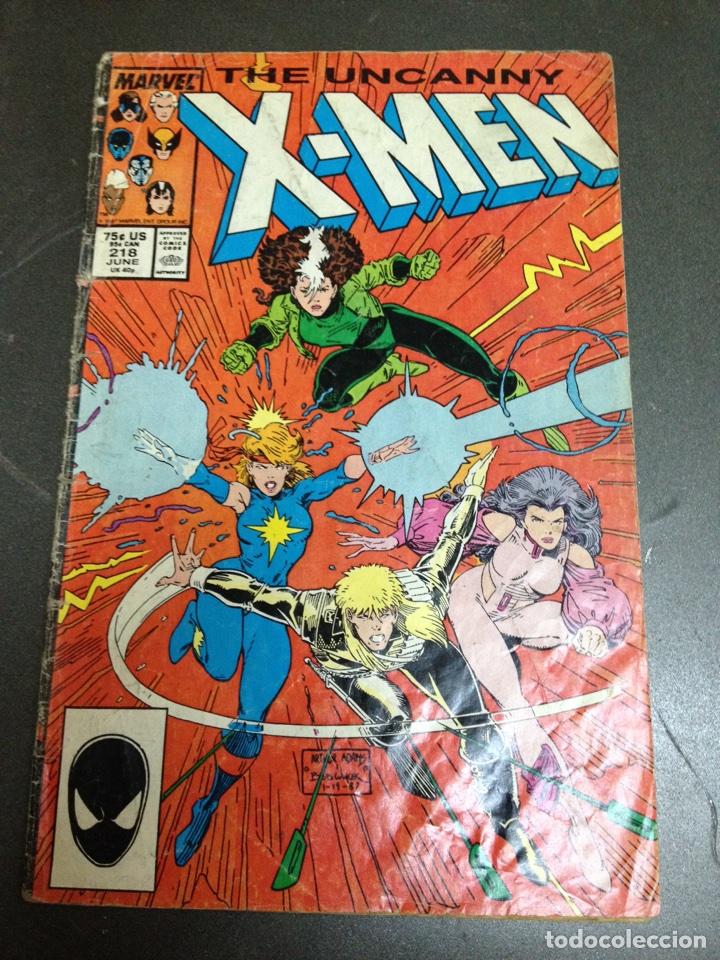 X MEN THE UNCANNY MARVEL USA N 218 AÑO 1987 (Tebeos y Comics - Comics Lengua Extranjera - Comics USA)