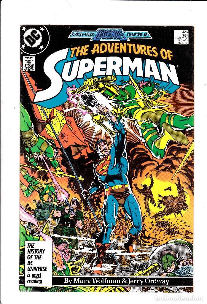 SUPERMAN #426 DC COMICS NEAR MINT CONDITION MAR 1987 (Tebeos y Comics - Comics Lengua Extranjera - Comics USA)