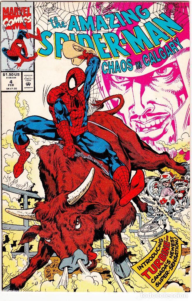 AMAZING SPIDER-MAN: CAOS EN CALGARY 4 MARVEL 1993 (Tebeos y Comics - Comics Lengua Extranjera - Comics USA)