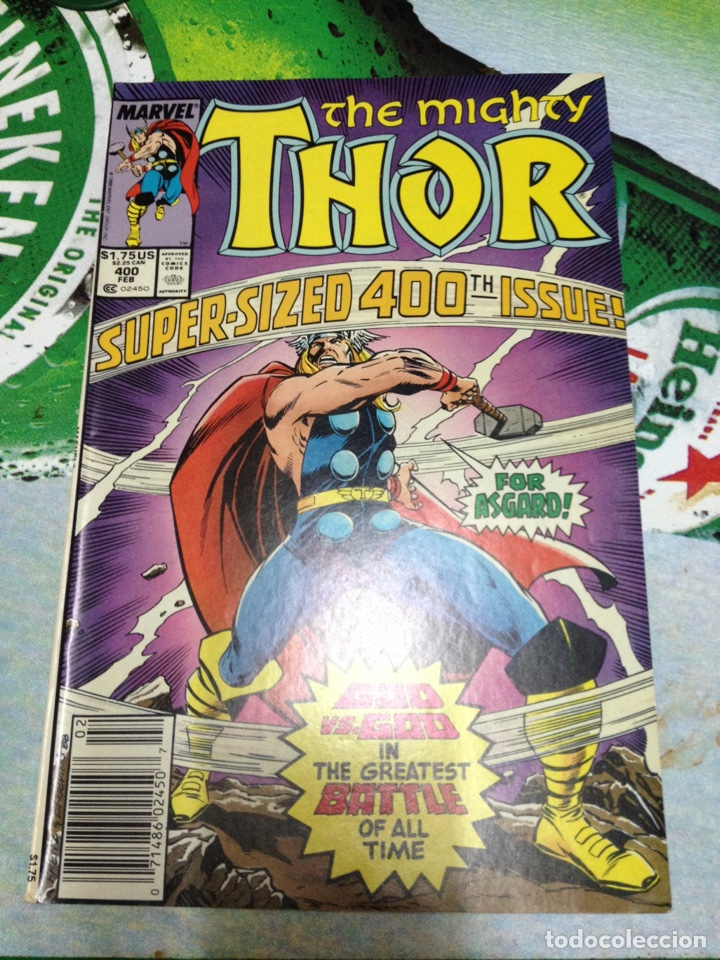 MARVEL COMICS - THE MIGHTY THOR Nº 400 AÑO 1989 (Tebeos y Comics - Comics Lengua Extranjera - Comics USA)