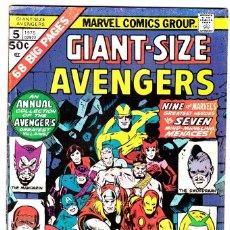 Cómics: GIANT SIZE AVENGERS 5 - MARVEL 1975. Lote 88374224