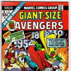 Cómics: GIANT SIZE AVENGERS 3 - MARVEL 1975. Lote 88374256