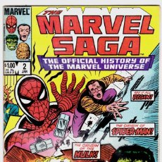Cómics: MARVEL SAGA #2 OFFICIAL HISTORY OF THE MARVEL UNIVERSE DEC 1985 VERY FINE COND . Lote 88914628