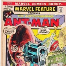 Cómics: MARVEL FEATURE #5 1972 MARVEL COMICS ASTONISHING ANT-MAN. Lote 88942052