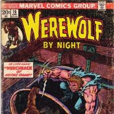 Cómics: MARVEL WEREWOLF BY NIGHT #16 1974 VINTAGE COMIC . Lote 88945888