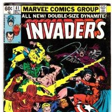 Cómics: THE INVADERS COMIC BOOK #41, MARVEL COMICS 1979. Lote 88946760