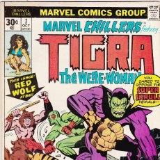 Cómics: MARVEL CHILLERS #7 - FEATURING TIGRA THE WERE-WOMAN - 1976 . Lote 89119968