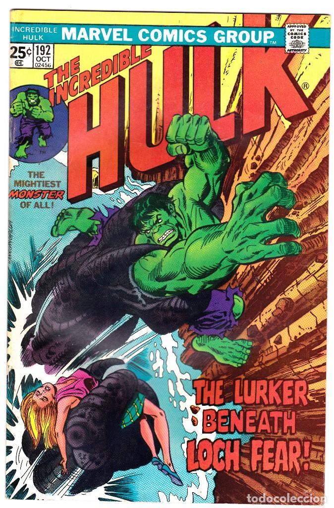 1975 MARVEL VOL. 1 #192 THE INCREDIBLE HULK (Tebeos y Comics - Comics Lengua Extranjera - Comics USA)