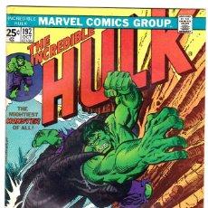 Cómics: 1975 MARVEL VOL. 1 #192 THE INCREDIBLE HULK . Lote 89221960