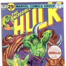 Cómics: 1975 MARVEL VOL. 1 #202 THE INCREDIBLE HULK . Lote 89221976