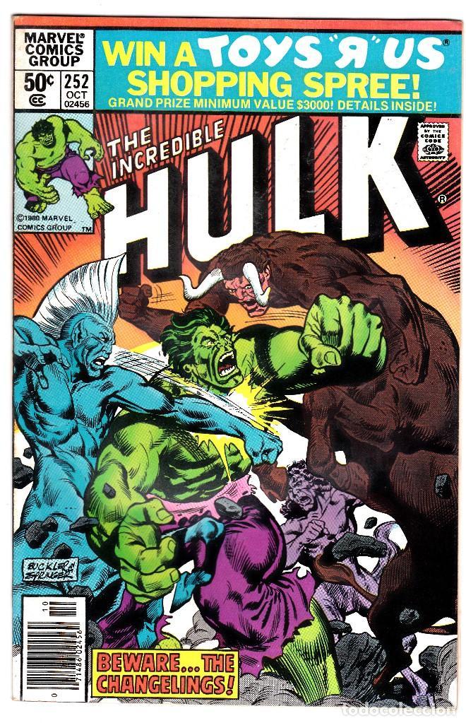 1975 MARVEL VOL. 1 #252 THE INCREDIBLE HULK (Tebeos y Comics - Comics Lengua Extranjera - Comics USA)