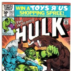Cómics: 1975 MARVEL VOL. 1 #252 THE INCREDIBLE HULK . Lote 89222072