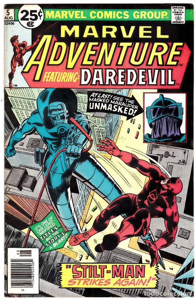 MARVEL ADVENTURES STARRING DAREDEVIL #5 (1976) MARVEL COMICS (Tebeos y Comics - Comics Lengua Extranjera - Comics USA)
