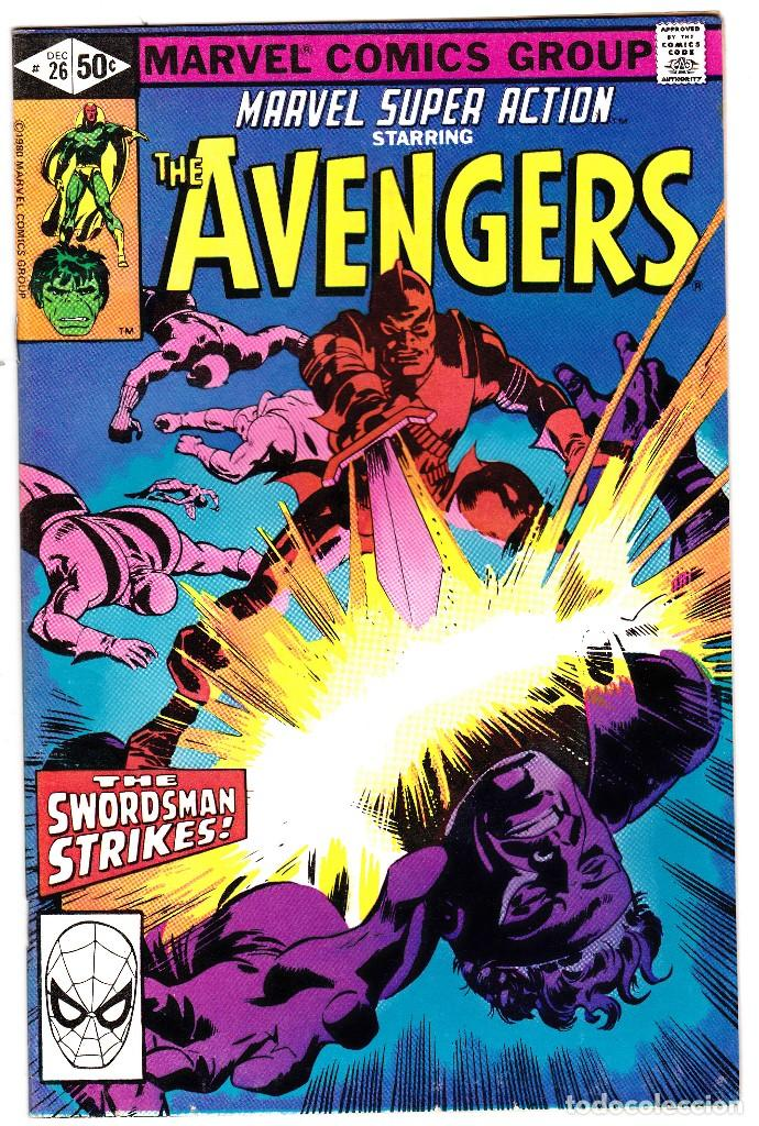 MARVEL SUPER ACTION STARRING THE AVENGERS - VOL 1 - NO 26 - DATE 12/1980 (Tebeos y Comics - Comics Lengua Extranjera - Comics USA)