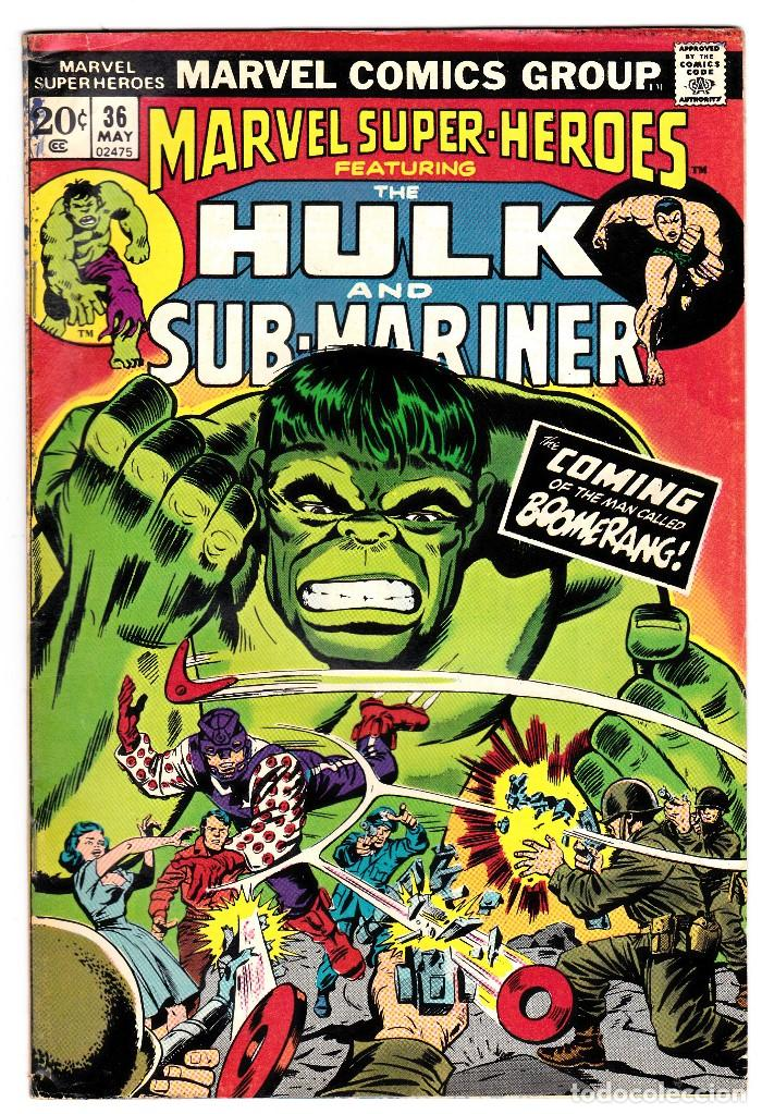 MARVEL SUPER-HEROS FT. 1973 THE INCREDIBLE HULK AND SUB-MARINER #36 (Tebeos y Comics - Comics Lengua Extranjera - Comics USA)