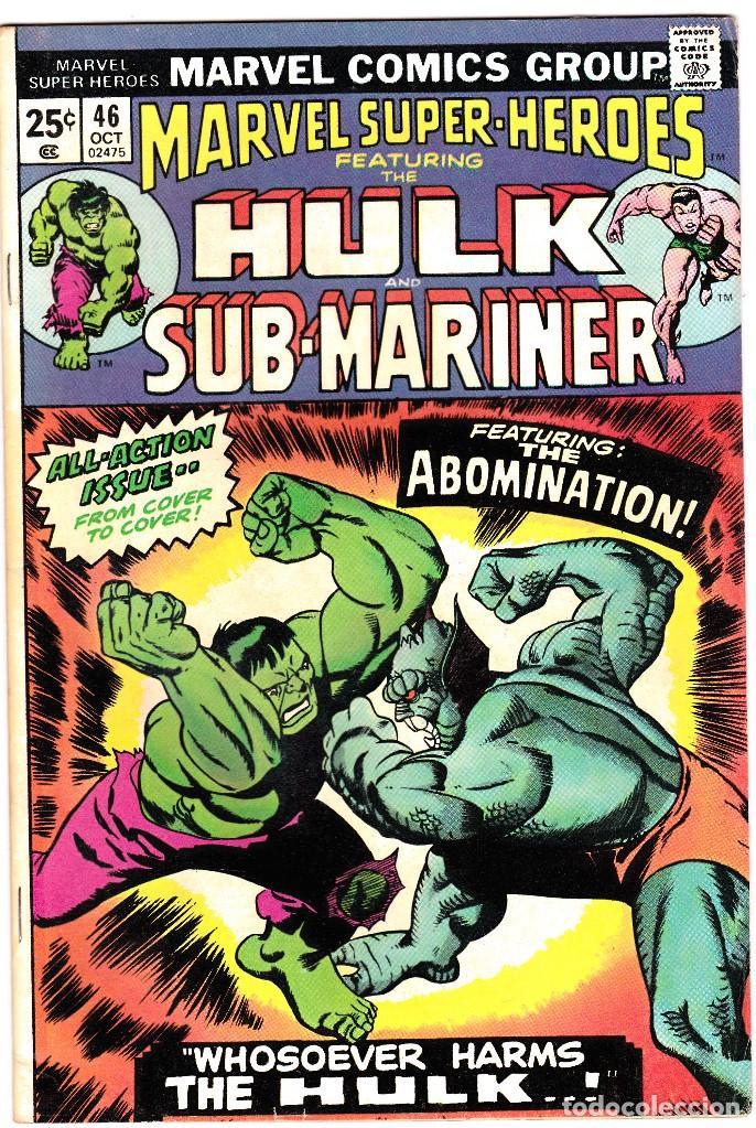 MARVEL SUPER-HEROS FT. 1974 THE INCREDIBLE HULK AND SUB-MARINER #46 (Tebeos y Comics - Comics Lengua Extranjera - Comics USA)