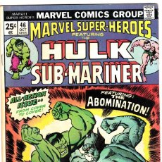 Cómics: MARVEL SUPER-HEROS FT. 1974 THE INCREDIBLE HULK AND SUB-MARINER #46 . Lote 89470536