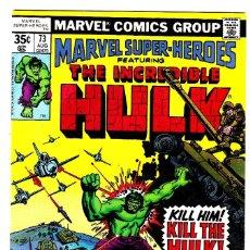 Cómics: MARVEL SUPER-HEROES # 73 (1978) HULK . Lote 89471276