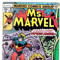 Cómics: . MS .MARVEL #19 (AUG 1978, MARVEL). Lote 89895688