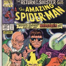 Cómics: COMIC MARVEL USA 1990 AMAZING SPIDERMAN 337 EXCELENTE ESTADO. (DAVID MICHELINE-ERIK LARSEN). Lote 90041796