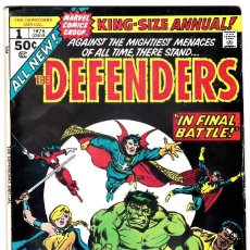 Cómics: MARVEL: THE DEFENDERS KING-SIZE ANNUAL #1,IN FINAL BATTLE! 1976. Lote 90072488
