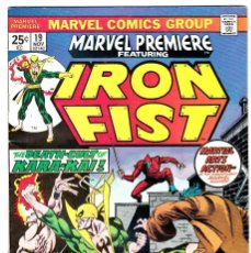Comics: MARVEL PREMIERE #19 IRON FIST 1974 . Lote 90231284