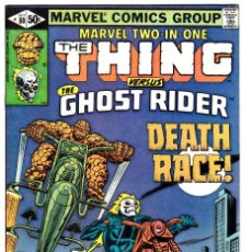 Cómics: MARVEL TWO-IN-ONE #80 1981 THING GHOST RIDER . Lote 93140655