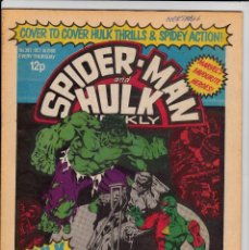 Cómics: SPIDERMAN AND HULK ISSUE 397 DATED OCTOBER 16 1980 MARVEL UK . Lote 94287282