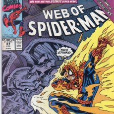 Cómics: COMIC MARVEL USA 1990 WEB OF SPIDERMAN 61 (EXCELENTE ESTADO). Lote 95034611