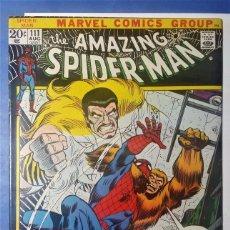 Cómics: AMAZING SPIDER-MAN 111 EXCELENTE ESTADO+. COMIC USA AMERICANO SPIDERMAN. MARVEL 1972. KRAVEN.. Lote 96019743