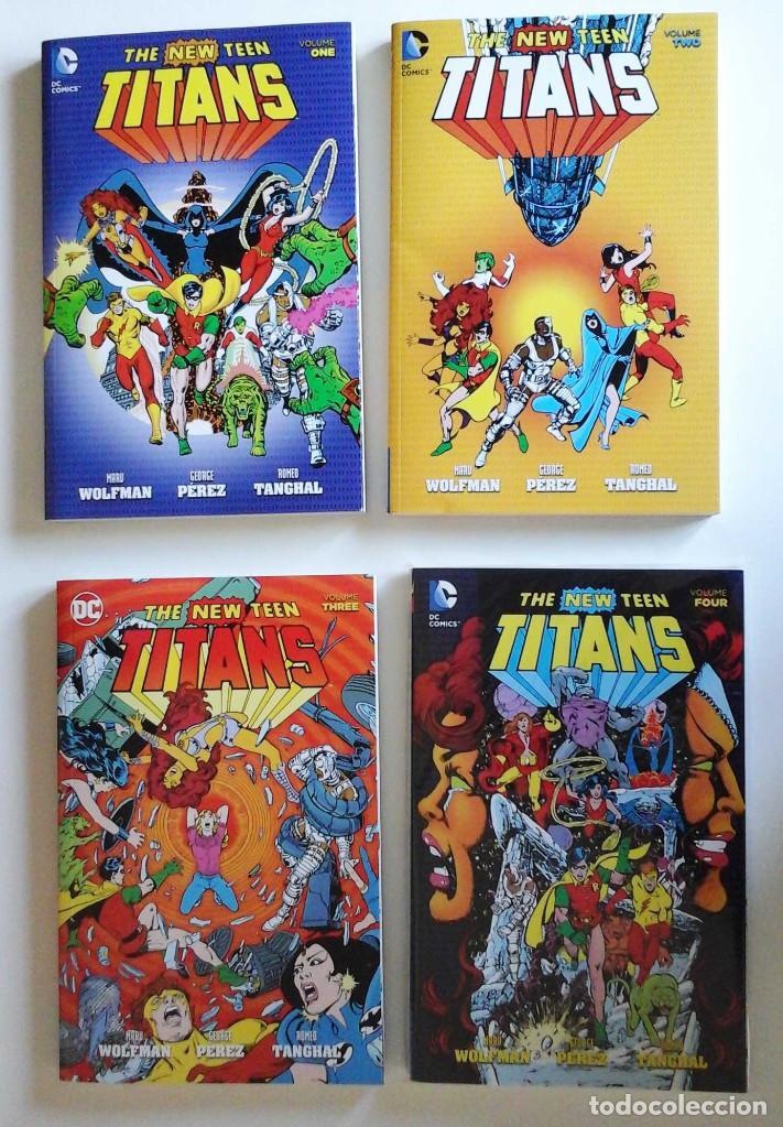 NEW TEEN TITANS, DE MARK WOLFMAN Y GEORGE PEREZ. 4 TOMOS. AHORRO DE 20 € (Tebeos y Comics - Comics Lengua Extranjera - Comics USA)