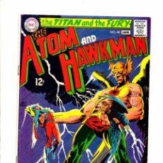 Cómics: ATOM AND HAWKMAN 40 - DC 1968 FN-. Lote 98677819