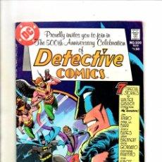 Cómics: DETECTIVE COMICS 500 BATMAN - DC 1981 - FN/VFN SPECIAL ANNIVERSARY . Lote 98680383