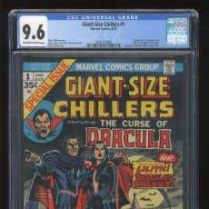 Cómics: GIANT SIZE CHILLERS DRACULA 1 - MARVEL 1974 - CGC 9.6 NM+ / 1ST LILITH. Lote 100021999