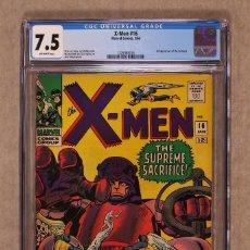 Cómics: UNCANNY X-MEN 16 - MARVEL 1966 - CGC 7.5 VFN- / JACK KIRBY. Lote 100024111